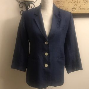 GAP Blue Linen Blazer